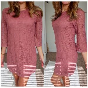 NWT forever 21 long sleeve mesh and lined dress❤️